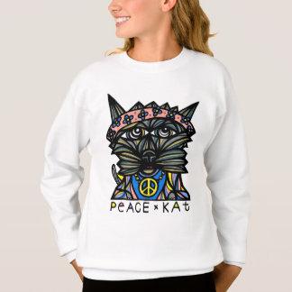 """Le sweatshirt des filles de la """"paix KAT"""""""