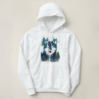 """Le sweatshirt des loups des femmes """"courses avec"""""""