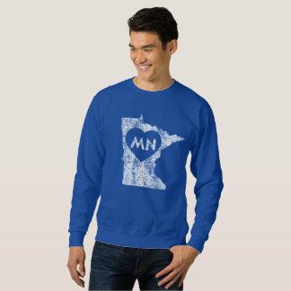 Le sweatshirt d'I d'amour du Minnesota des hommes