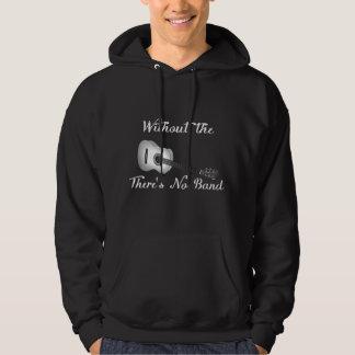 Le sweatshirt foncé à capuchon de base des hommes
