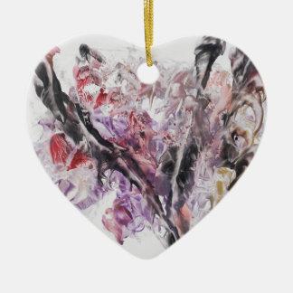 Le symbole de la paix ornement cœur en céramique
