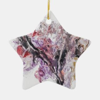 Le symbole de la paix ornement étoile en céramique
