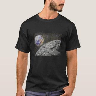 Le T-shirt acrylique de lune et de terre