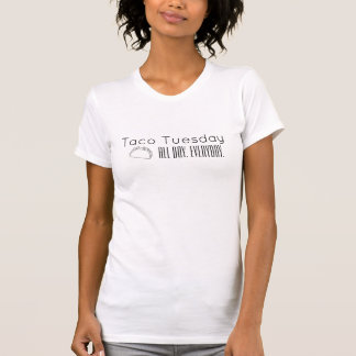 Le T-shirt blanc des femmes de mardi de taco