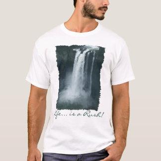 Le T-shirt d'amant de nature de CASCADE de