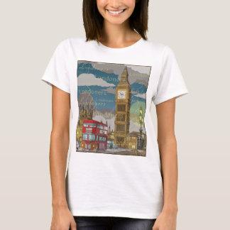 Le T-shirt de base des femmes de Londres