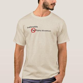 Le T-shirt de base des hommes avec le mouvement