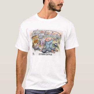 Le T-shirt de base des hommes de bétail de citoyen