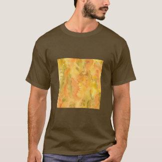 Le T-shirt de base des hommes verts oranges