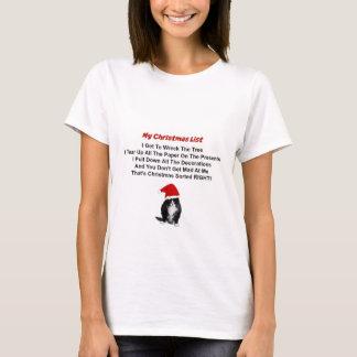 Le T-shirt de chat des femmes grincheuses de Noël