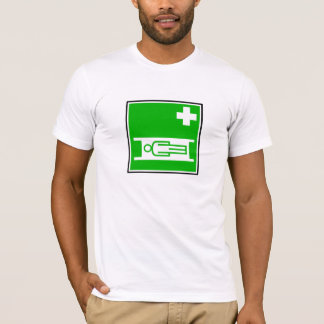 Le T-shirt de civière des hommes médicaux de signe