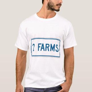 Le T-shirt de deux hommes de fermes