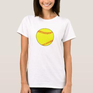 Le T-shirt de Fastpitch des femmes simples simples