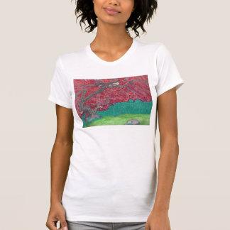 Le T-shirt de la femme d'érable japonais