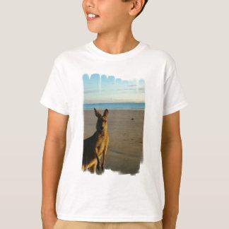 Le T-shirt de l'enfant de photo de kangourou