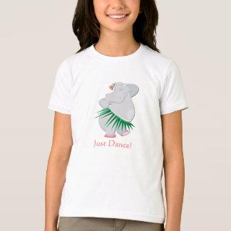 Le T-shirt de l'enfant d'hippopotame de danse