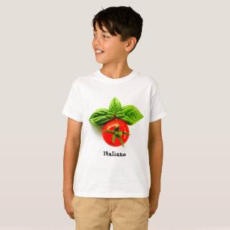 Le T-shirt de l'enfant italien d'héritage