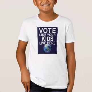 Le T-shirt de l'enfant - le vote comme vos enfants
