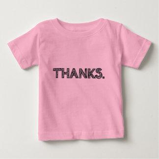 Le T-shirt | de l'enfant MERCI | personnalisable