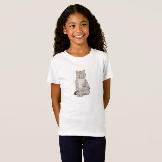 Le T-shirt de l'enfant mignon de chat tigré