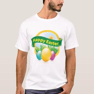 Le T-shirt de pâques des hommes heureux d'oeufs