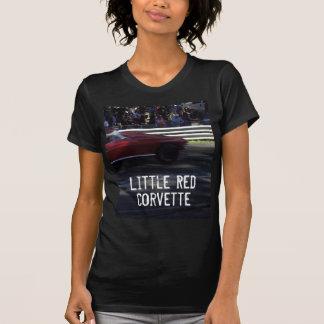 Le T-shirt de peu de dames rouges de Corvette