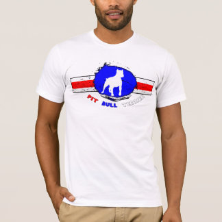 Le T-shirt de pitbull des hommes américains de