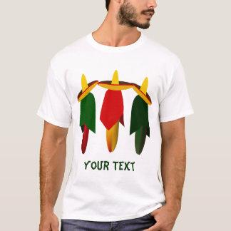 Le T-shirt de trois d'Amigo hommes de piments