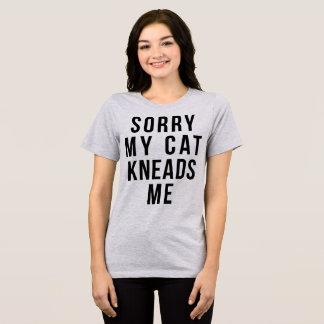 Le T-shirt de Tumblr désolé mon chat me malaxe