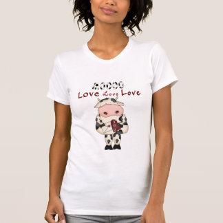 Le T-shirt de Valentine de vache à MOO d'amusement