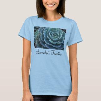 Le T-shirt des dames bleues d'echeveria
