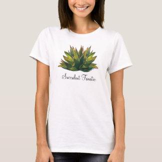 Le T-shirt des dames d'aquarelle d'agave