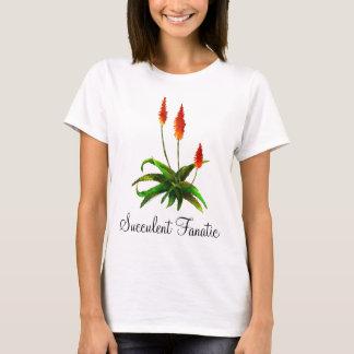 Le T-shirt des dames d'aquarelle d'aloès