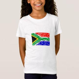 Le T-shirt des enfants sud-africains d'argot -