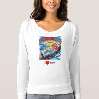 Le T-shirt des femmes - coeur Venise d'I