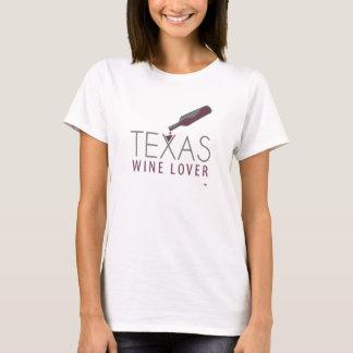 Le T-shirt des femmes d'amateur de vin du Texas