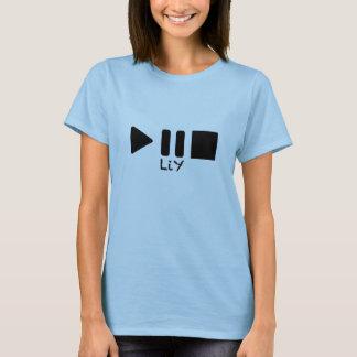 Le T-shirt des femmes d'arrêt de pause de jeu de
