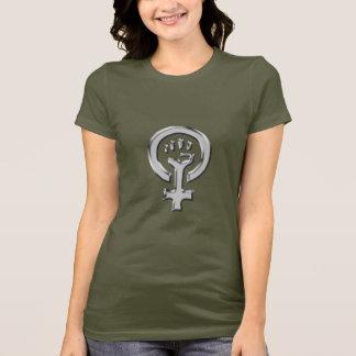 Le T-shirt des femmes de chrome de puissance de
