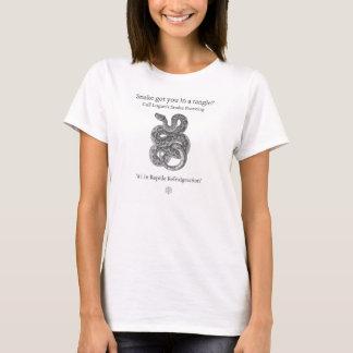 Le T-shirt des femmes de congélation du serpent de