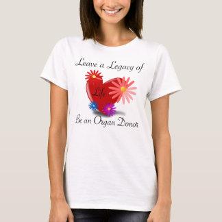 Le T-shirt des femmes de donation d'organe