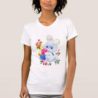 Le T-shirt des femmes de lapin de Pâques