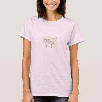 Le T-shirt des femmes de moutons d'Oui