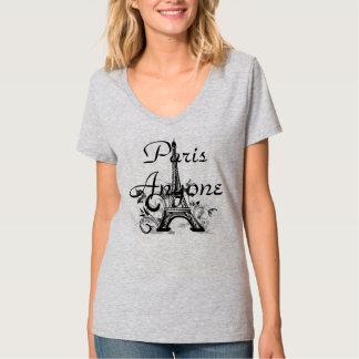 Le T-shirt des femmes de Paris n'importe qui.