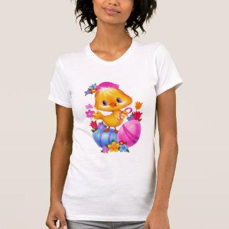 Le T-shirt des femmes de poussin de Pâques