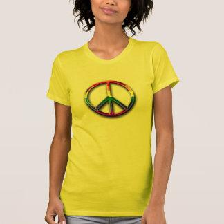 le T-shirt des femmes de signe de paix de