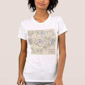 Le T-shirt des femmes d'enregistreurs à cassettes
