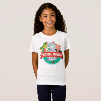 Le T-shirt des filles politiques d'animaux