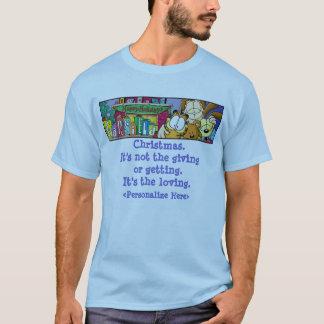 Le T-shirt des hommes affectueux de vacances de