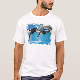 Le T-shirt des hommes de baleines d'orque