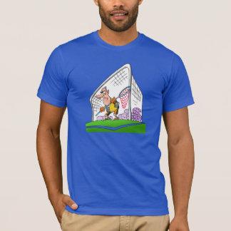 Le T-shirt des hommes de gardien de but de bande